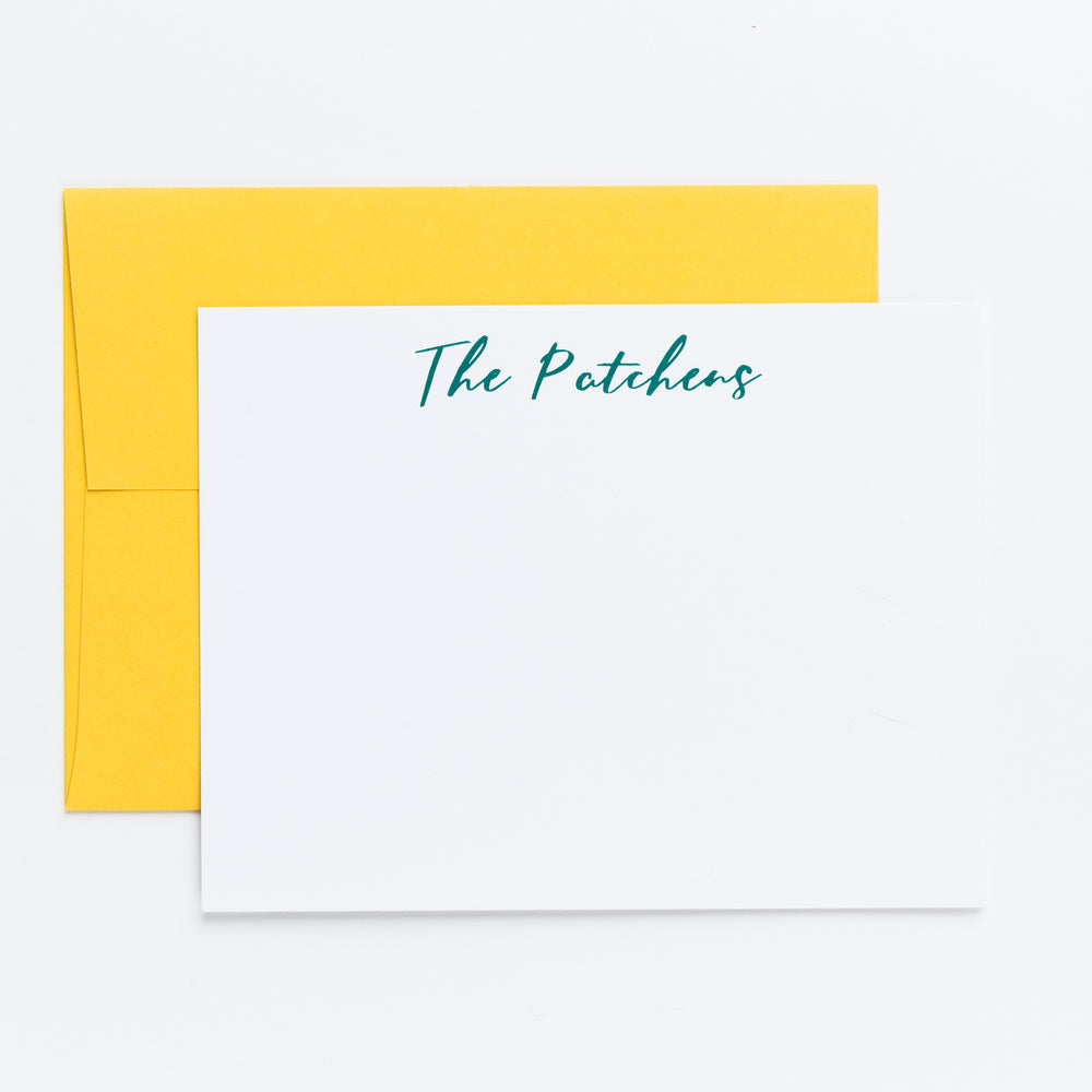 Script Personalized Notecards