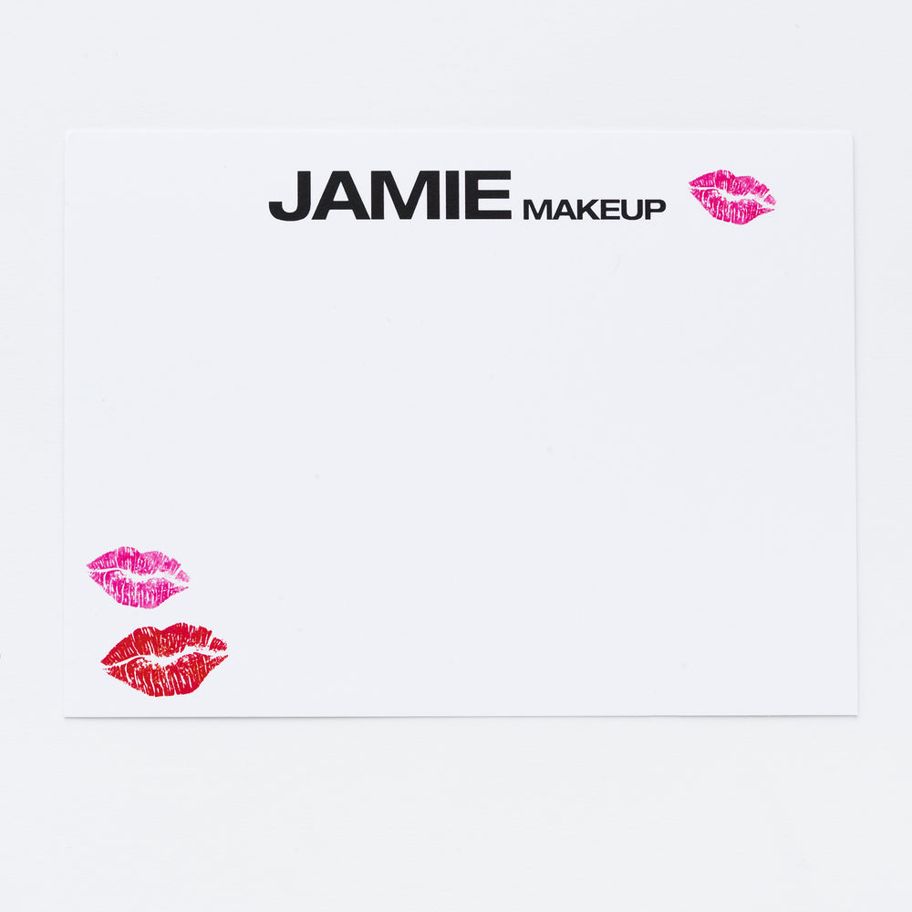 Lipstick Kisses Personalized Notecards