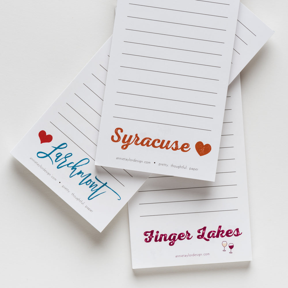 Syracuse Love notepad