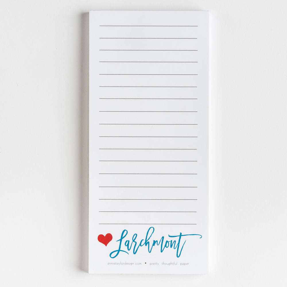 Larchmont Love notepad