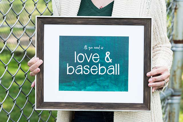 Annie Taylor Designs - Love & Baseball Print