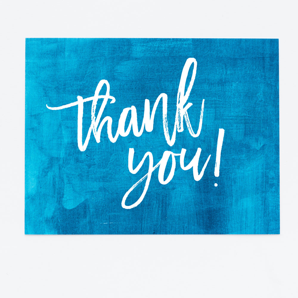 Ocean Blue Thank You notecards