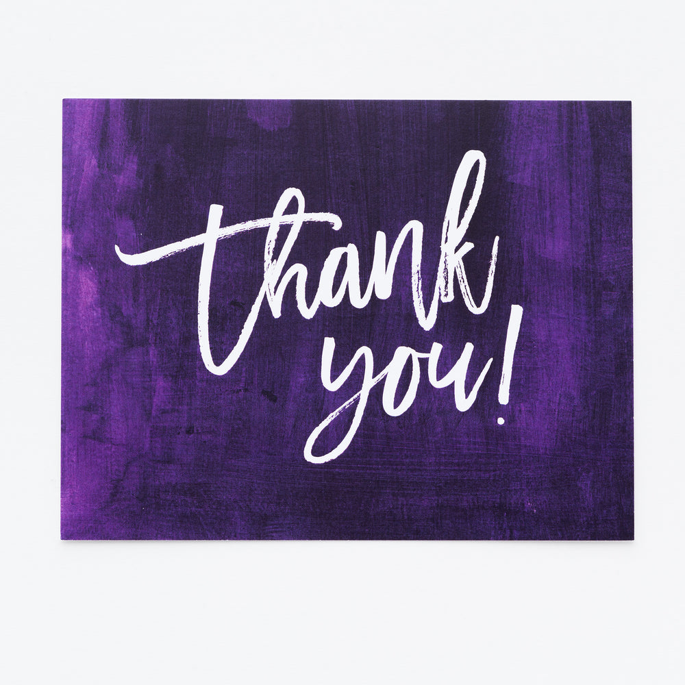 Ultra Violet Thank You notecards