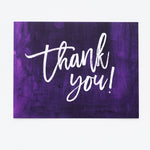 Purple Thank You notecards