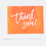 Orange Thank You notecards
