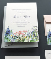 Calligraphy & Flowers Invitation Sample