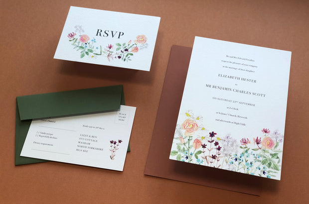 Summer Meadow Invitation Sample