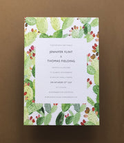 Cactus Invitation Sample