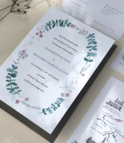 Eucalyptus Wreath Invitation Sample