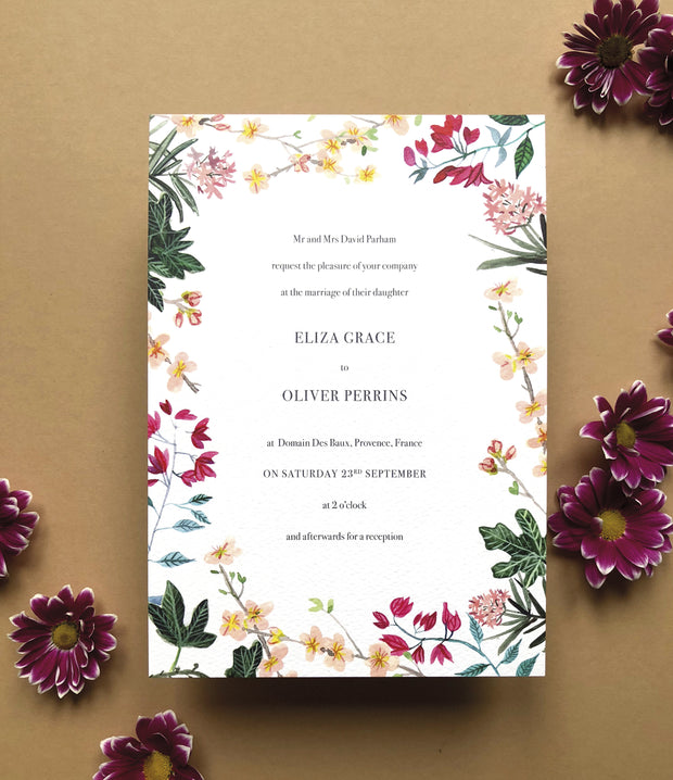 Mediterranean Invitation Sample