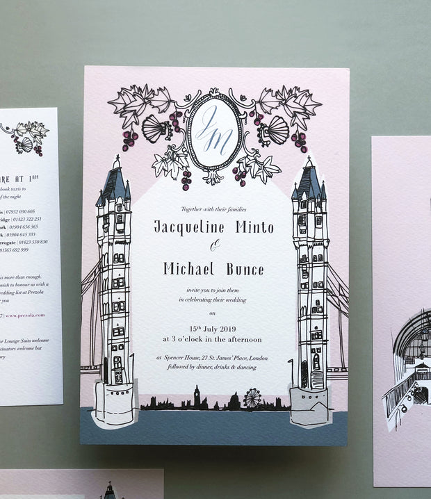Old London Invitation Sample