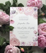 Roses & Peonies Invitation Sample