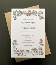 Rose Wreath Invitation Sample