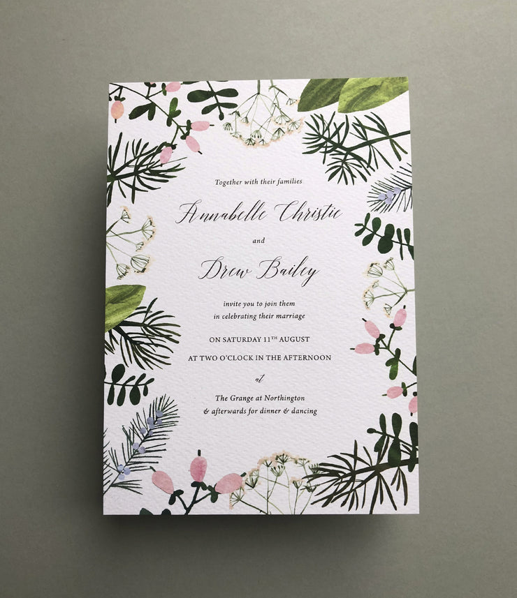 Spring Botanics Invitation Sample