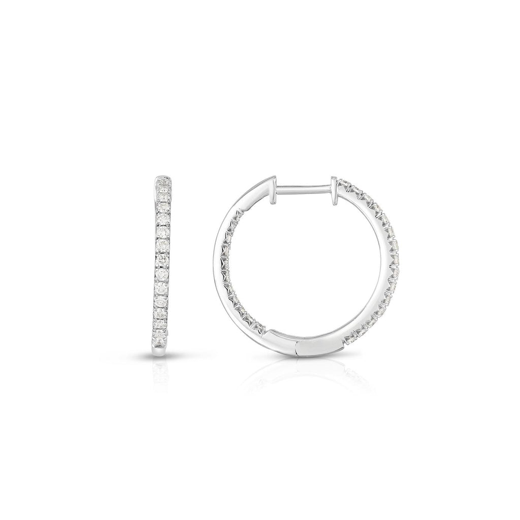 Diamond Inside & Outside Hoop Earrings