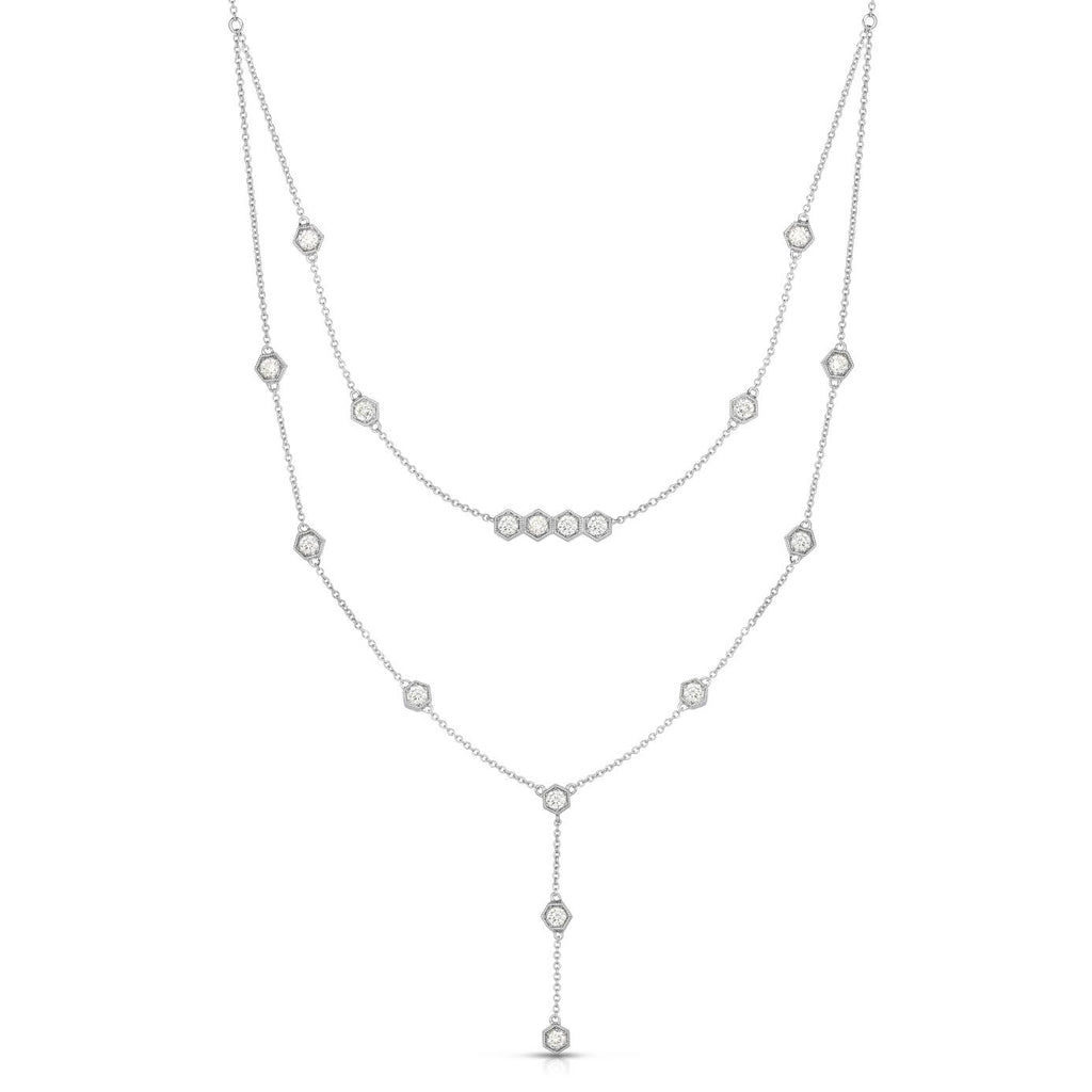 Diamond Double Strand Necklace