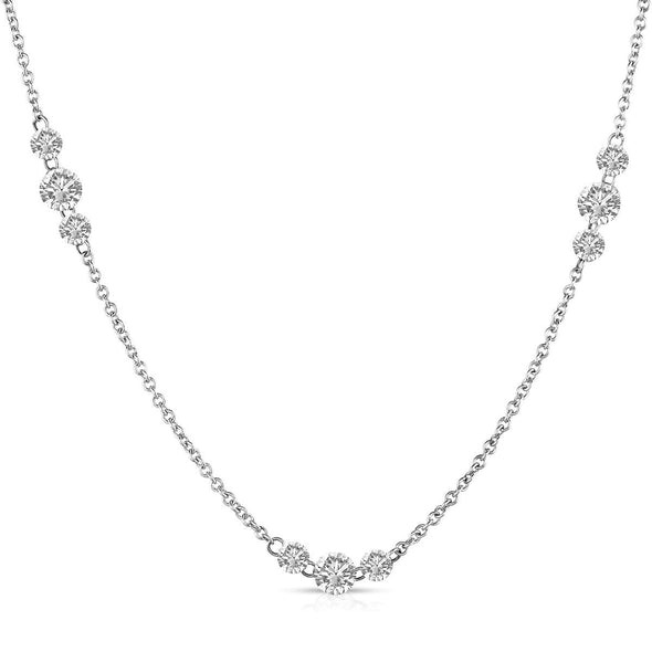 Round Drilled Diamond By The Yard Necklace