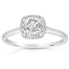 .75Ct Diamond and Square Halo Mounting