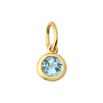 14K Yellow Gold Bezel Set Necklace Charm