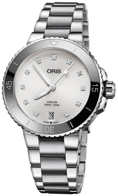 Oris Aquis Date Diamonds 36.5mm Midsize Watch