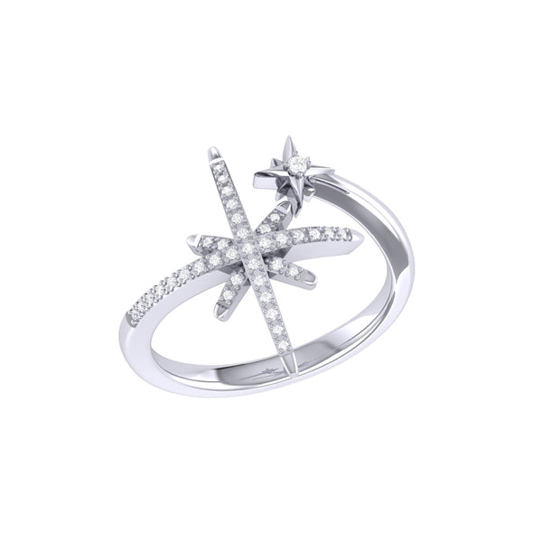North Star Duo Ring Sterling Silver