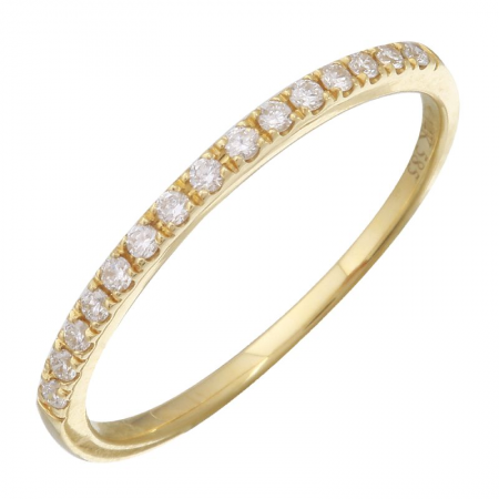 14K Yellow Gold Diamond Eternity Ring