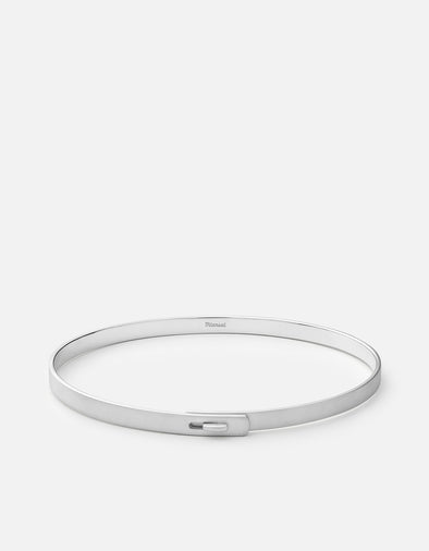 Thin Standard Cuff, Sterling Silver, Matte- Medium