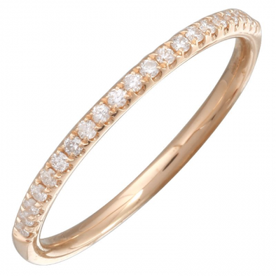 14K Rose Gold Diamond Halfway Band