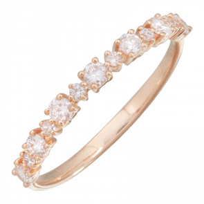 14K Rose Gold Diamond Stacking Ring