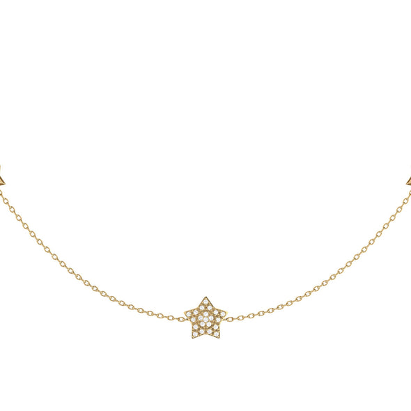 Lucky Star Necklace in 14 KT Yellow Gold Vermeil on Sterling Silver
