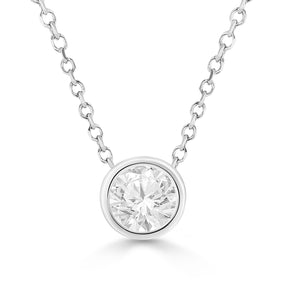 1 Ct Diamond Stud Necklace (Valentine's Day Promo)