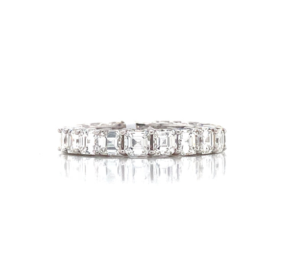 18K White Gold Ascher Diamond Eternity Band