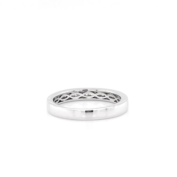 14K White Gold Diamond Channel Set Band