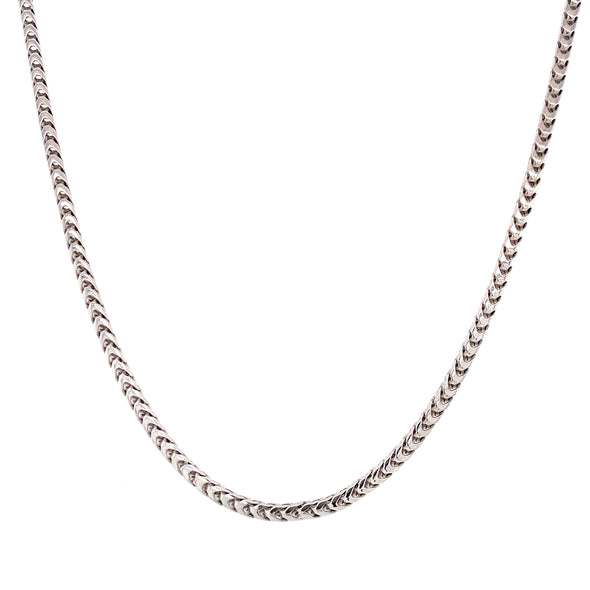 18K White Gold Italian Link Chain