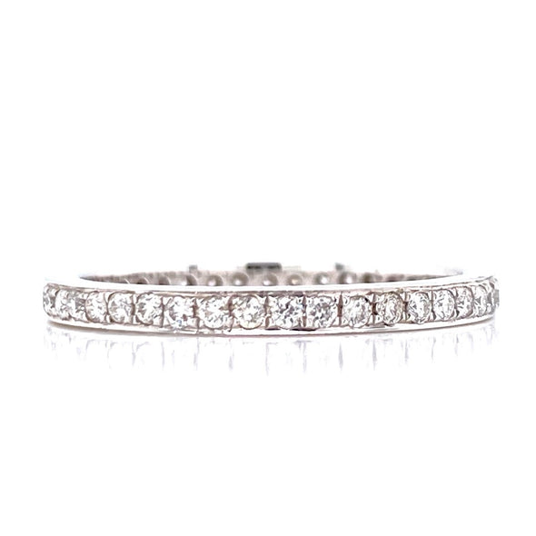 14K White Gold 0.38ct Diamond Eternity Band