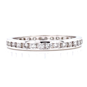 14K White Gold 0.50ct Diamond Channel set Eternity Band