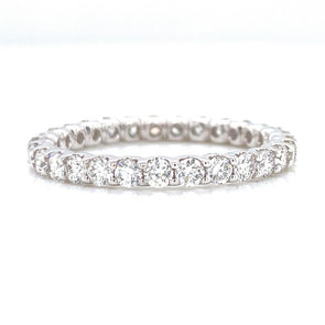 14K White Gold 1.12ct Diamond Eternity Band