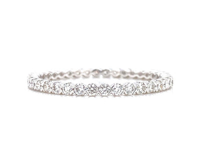 14K White Gold 0.46ct Diamond Criss-Cross Eternity Band
