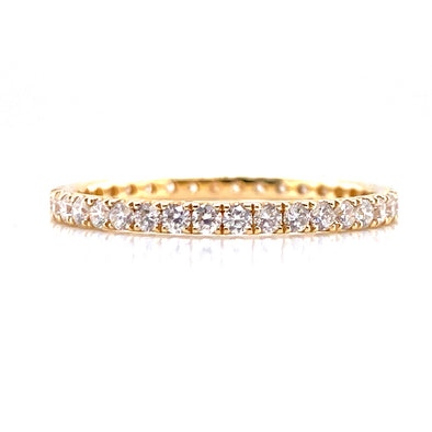 14K Yellow Gold 0.53ct Diamond Eternity Band