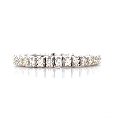 14K White Gold 0.50ct Diamond Stretch Eternity Band