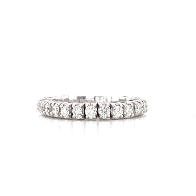 14K White Gold 1.00CT Diamond Stretch Eternity Band