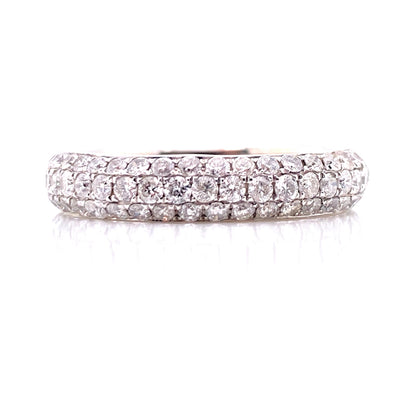 14K White Gold Diamond Pave Eternity Band