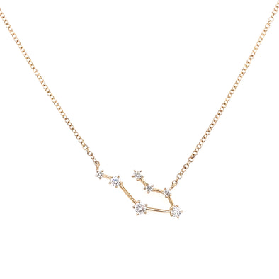 14K Yellow Gold Diamond Constellation Necklace: Gemini (Large)