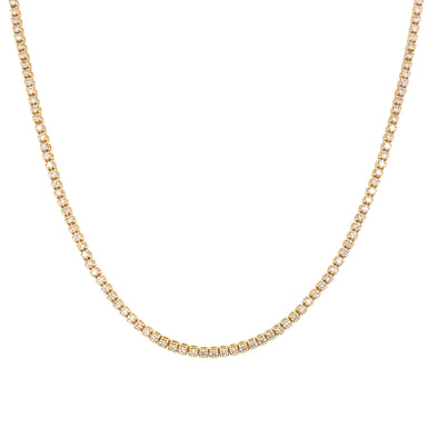 18K Yellow Gold Diamond Choker