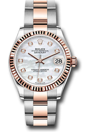 Rolex 31Mm Oystersteel & Everose Gold Datejust Watch,