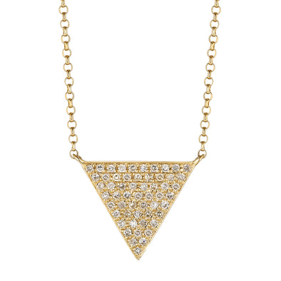 14K Yellow Gold Triangle Necklace