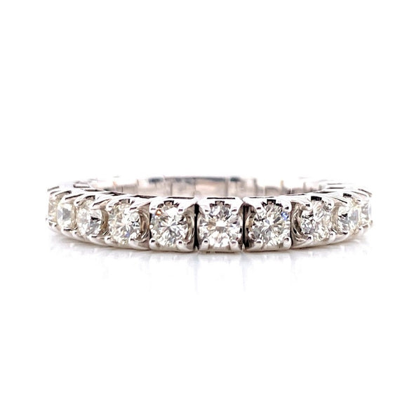 14K White Gold Diamond Stretch Eternity Band