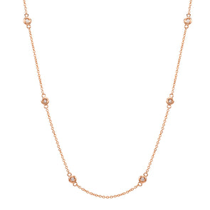 14k Rose Gold Diamonds by the Yard Necklace