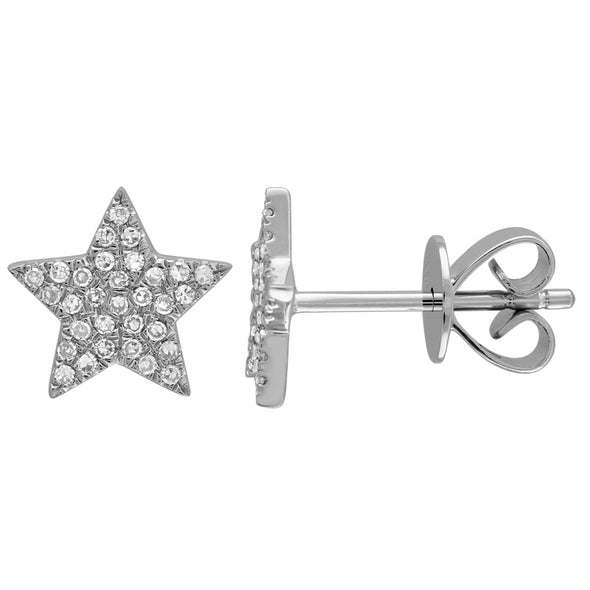 Large Diamond Star Earrings