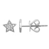 14K Yellow Gold Mini Diamond Star Earrings